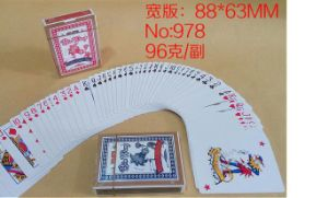 No. 978 Casino Paper Poker Playing Cards pictures & photos