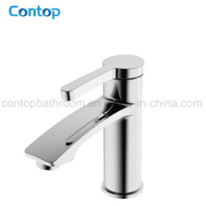New Style Bathroom Products Brass Body Chrome Finished Basin Faucet pictures & photos