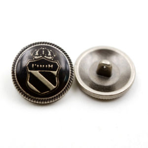Metal Badge Button Epoxy Alloy Metal Button for Coat pictures & photos