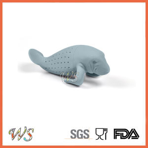 Ws-If051 Manatee Tea Infuser Silicone Tea Filter Leaf Strainer Food Grade pictures & photos