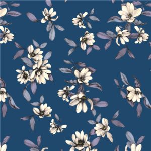 China Custom Design Digital Printed Silk Fabric (XF-0011) pictures & photos