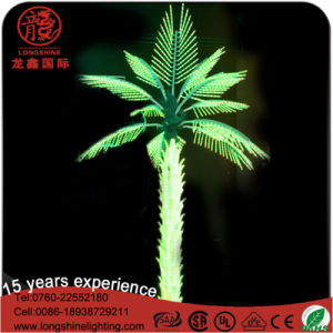 High Quality Outdoor Artiticial Palm Purple Ce RoHS Palm Tree Light for Festivial Decoration pictures & photos