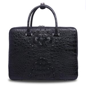 Men Genuine Leather Brief Case Crocodile Men′s Business Laptop Briefcase pictures & photos