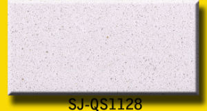 Artificial Engineered Stone Crystal Sparkling White Quartz Stone Slab pictures & photos