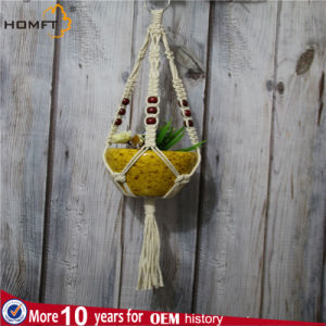 Garden Decoration Cotton Rope Ceramic Pot Flower Hanger pictures & photos