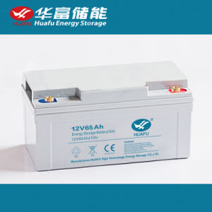 12V65ah Deep Cycle Gel Solar Battery pictures & photos