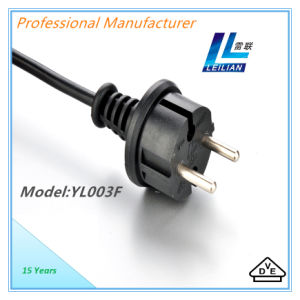 2 Pins VDE H05VV-F Cable of PVC Insulated Power Cord pictures & photos