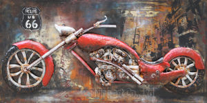 3D Iron Oil Car Painting Wall Art for Home Decoration pictures & photos
