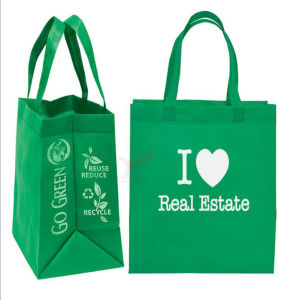 Custom Reusable 100GSM Promotional Non Woven Bag pictures & photos