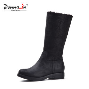 Casual Fur Women Flats Shoes MID-Calf Lady Snow Boots Shoes pictures & photos