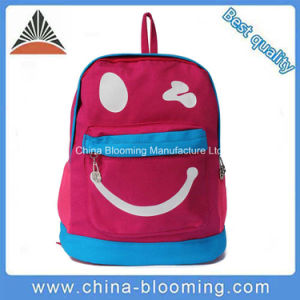 Girl Smile Face Backpack Children Lovely School Canvas Book Bag pictures & photos