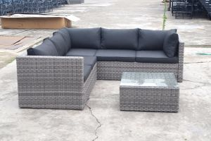 Patio Outdoor Garden Furniture Flat Wicker Alum Rattan Sofa (J721KD) pictures & photos
