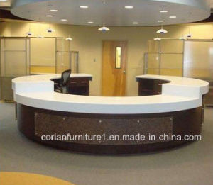 Acrylic Solid Surface Corian Hotel Reception Desk pictures & photos