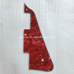 4ply Top Layer Real Red Tortoise Lp Guitar Pickguard pictures & photos