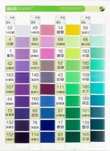 100% Polyester Yarn DTY Colored Yarn Dope Dyed Yarn POY pictures & photos