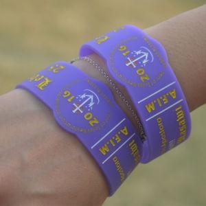 Manufacture Wholesale Festival Custom Printing Silicon Wristband Bracelet