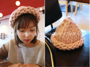 Hand Knitting Hats Fancy Chunky Yarn pictures & photos