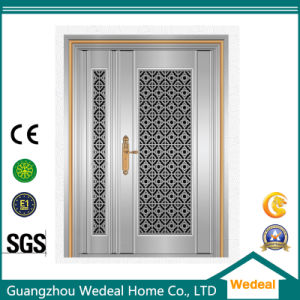 Security Modern Stainless Steel Unequal Front Door for Houses pictures & photos