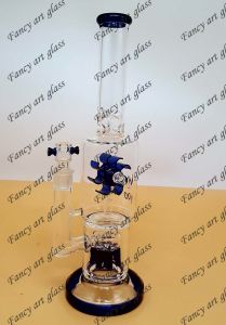 Newest Design Glass Smoking Water Pipe with Rotating Fan-Fya841 pictures & photos