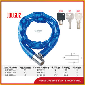 Jq8602 Popular Bicycle Lock Motorcycle Chain Lock Iron Bicycle Lock pictures & photos