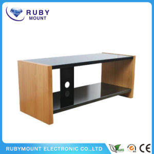 Home Simple Wood Glass 2-Tier Entertainment TV Stands pictures & photos