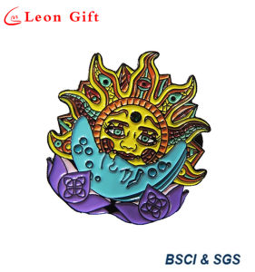 Custom 3D Skull Logo Enamel Lapel Pins with Wing Design pictures & photos