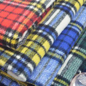 Checked Fleece Fabric, Herringbone Fabric for Jacket, Garment Fabric, Textile Fabric, Clothing
