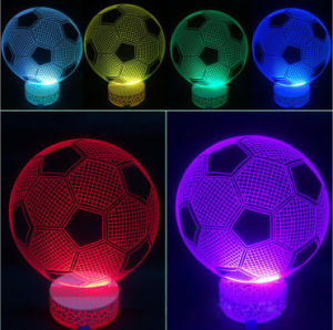 Iron Man Standing 3D LED Illusion Bulbing Night Light USB 7 Color Touch Switch Table Lamp pictures & photos