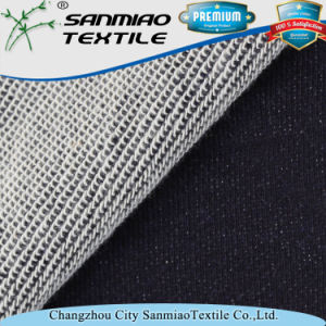 100 Cotton Fleece Style Indigo Knitted Denim Fabric for Sweater pictures & photos