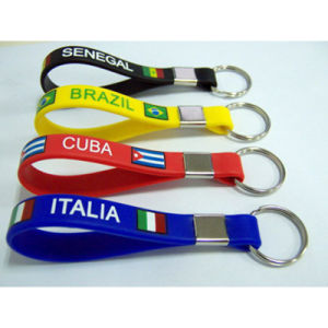 Promotional Custom Silicone Strap Key Chain pictures & photos