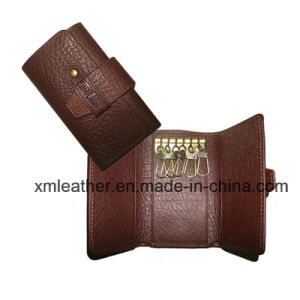PU Leather Key Holder Bag Keyring Pouch with Custom Logo pictures & photos