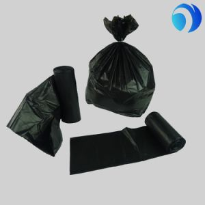 HDPE/LDPE Recycled Plastic Black Cheap Garbage Bags pictures & photos