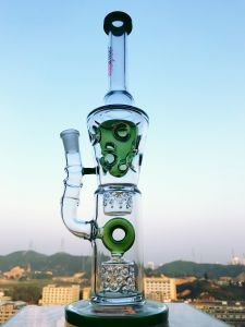 Popular Hb-King Glass Water Pipe with Dome and Barrel Percolator High Quality Recycler pictures & photos