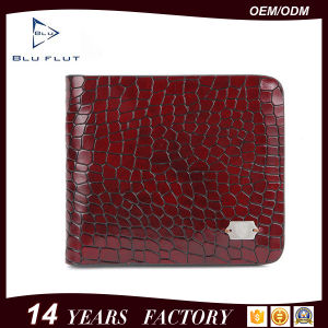 Fashion Genuine Grain Red Leather Mini Pocket Wallet Purse for Men pictures & photos