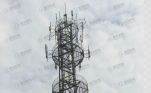 HDG Tubular Mast Lattice Tower