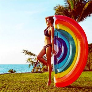 Inflatable Rainbow Pool Raft Ride on Floats, Water Mats pictures & photos