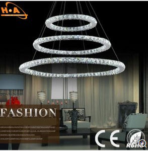 American Villa Staircase Crystal Pendant Lamp for Hotel pictures & photos