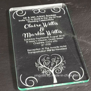 New Clear Acrylic Wedding Invitation pictures & photos