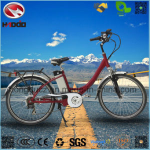 250W Good Quality Electric City Road Bike with Rear Rack pictures & photos