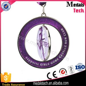 Wholesale Supports Girls Gone Gazelle Run Club Glitter Round Medals pictures & photos
