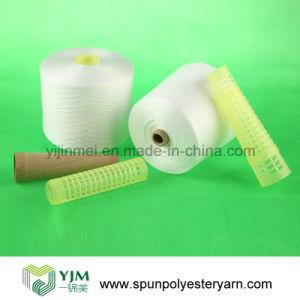 50/2 Raw White 100% Polyester Spun Knitting Yarn pictures & photos