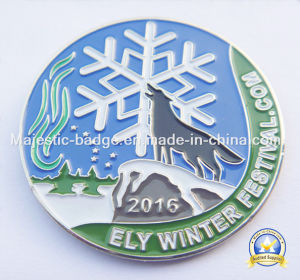 Silver Plated Soft Enamel Lapel Pins pictures & photos