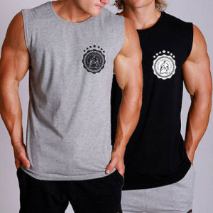New Mens Grind Muscle Gym Printed Singlets (A825)