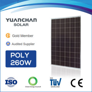 China Best Supplier Yuanchan Poly 260W Solar Panel Ce TUV pictures & photos