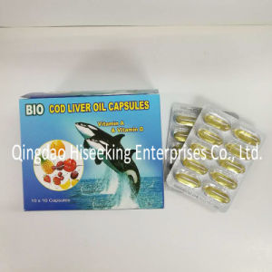 GMP Certified Pharmaceutical Chemicals Cod Liver Oil Softgel pictures & photos