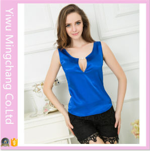2016 Fashion Design Candy Color Silk Comfortable Sleeveless Tops pictures & photos
