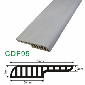 Ck MDF Design Water-Proof PVC Skirting of Glue /Nail Installnation pictures & photos