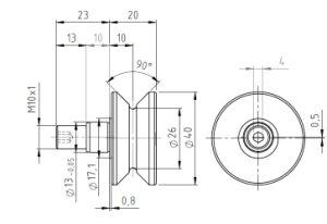 Hpve26, V-Grooved Eccentric Stud, Osborn Design Bearing, Load Runner, Idler-Rollers