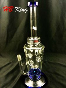 EL-K3 Inverted Triangle Fab Hole Tornado Percolate Water Glass Pipe pictures & photos