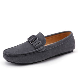 Leather Shoe Driving Shoes Casual Wholesale Slip on for Men (AK1381) pictures & photos